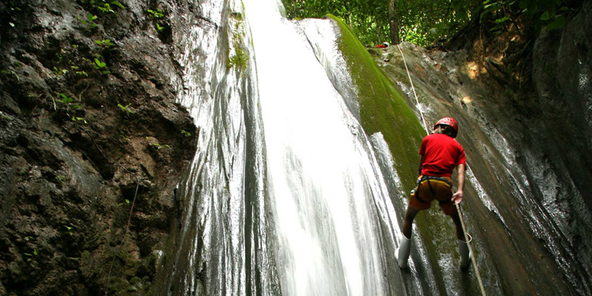 waterfall rappeling